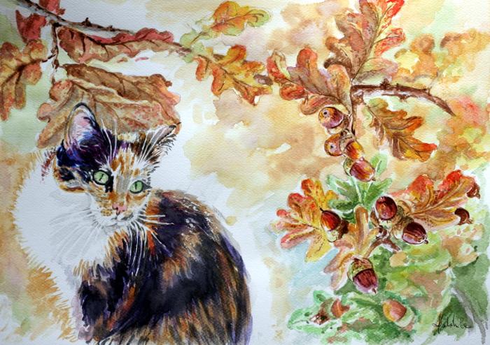 Lusia and acorns by danuta50