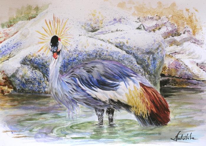 Royal crane by danuta50