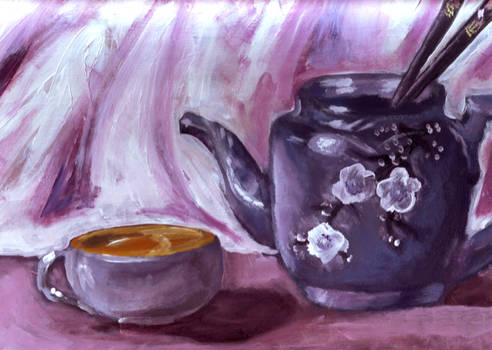 Glazed in Purple Teapot
