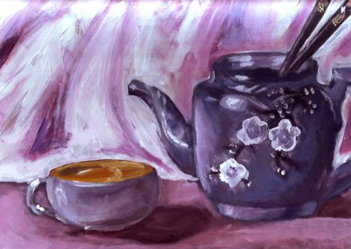 Glazed in Purple Teapot