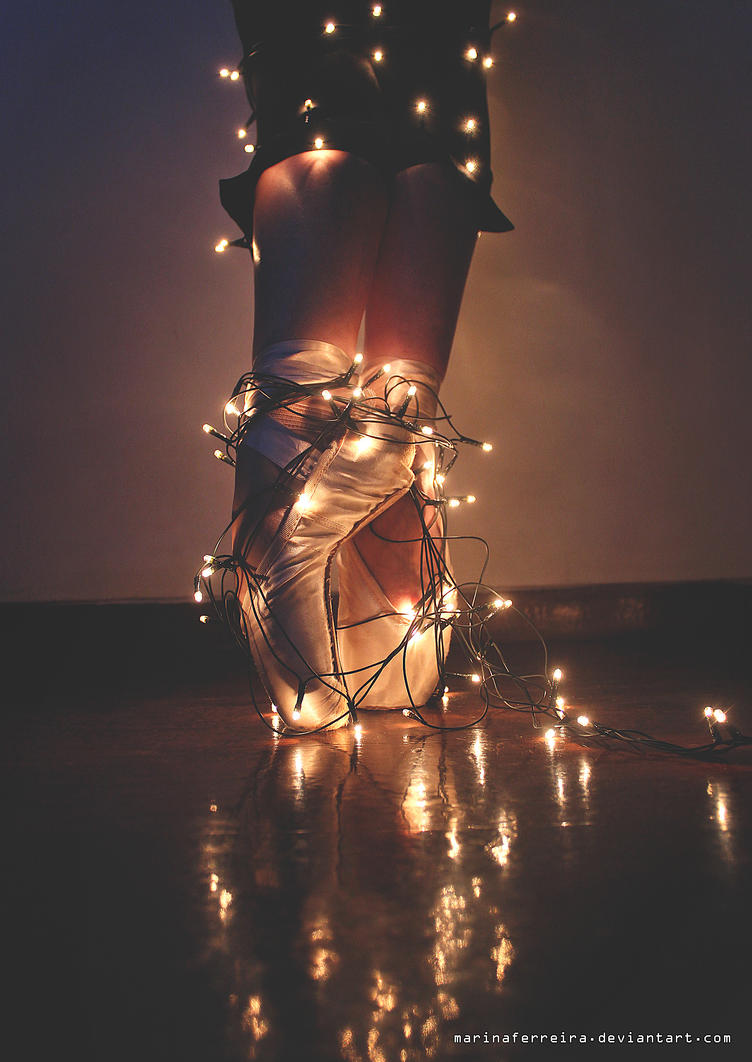 Fairy Lights and Pointe Shoes by marinaferreira