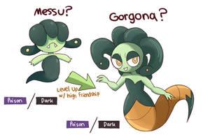 Medusa Fakemon Evolutionary Line
