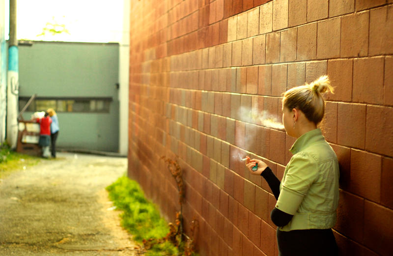Smoker in the Alley