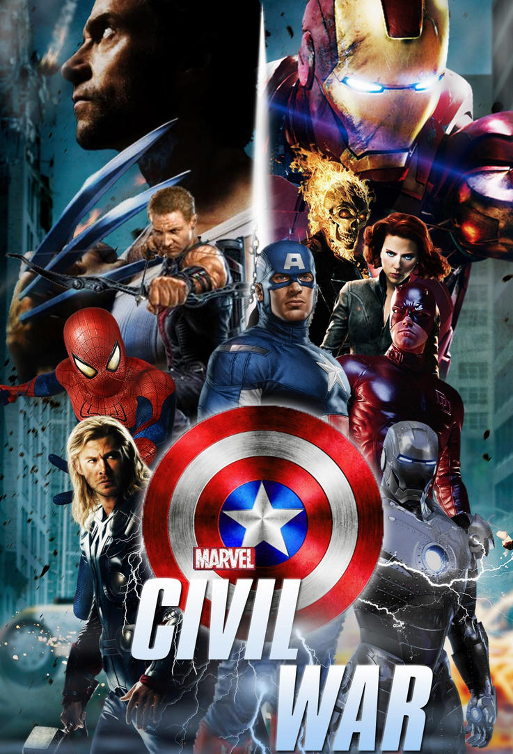 Marvels Civil War Fan Poster By StephenCanlas