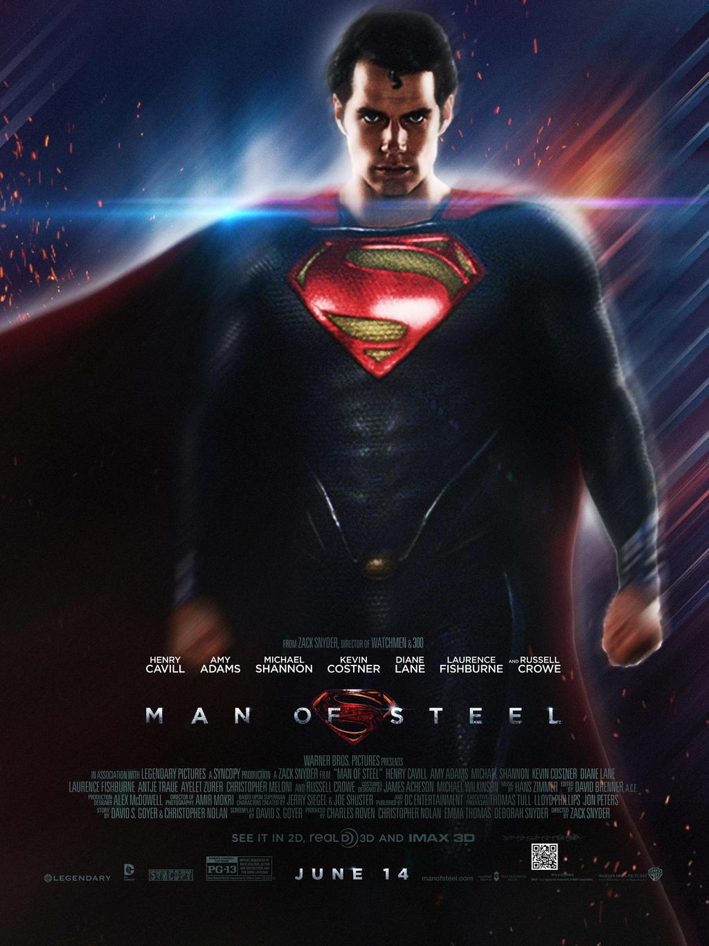 'Man Of Steel' Poster by StephenCanlas on DeviantArt