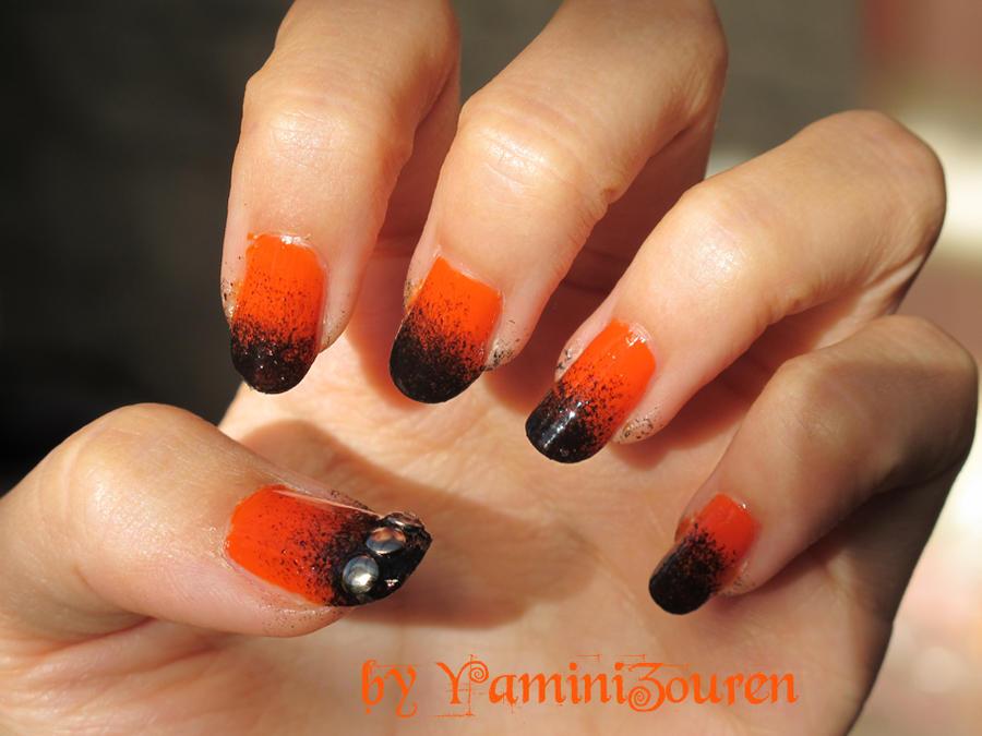 fantastic neon green orange and black nail art exactly inspiration article - Orange And Black Nail Art – Slybury.com