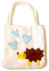 Hedgehog Tote Bag by deconstructedstars