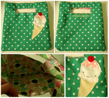 Ice Cream Square Tote by deconstructedstars