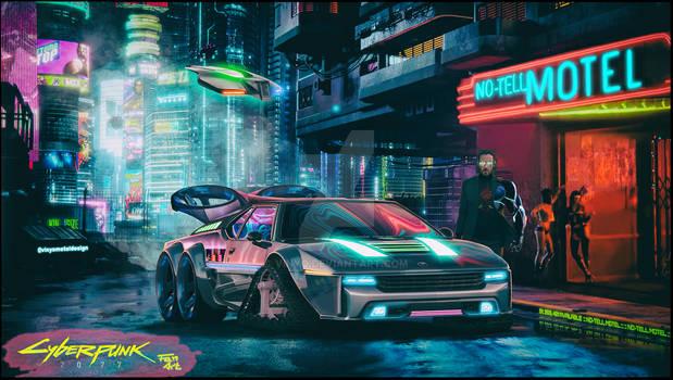 BMW M1 Cyberpunk 2077 Fan Art VMD