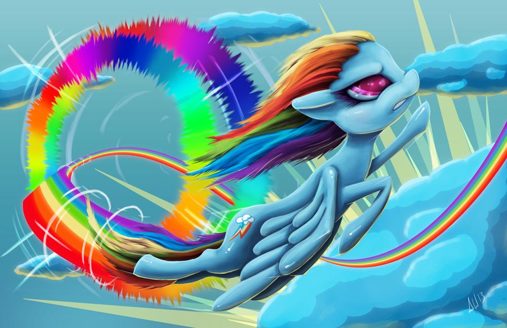 rainbow dash sonic rainboom animation