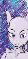Mewtwo sketch by FusionWarrior