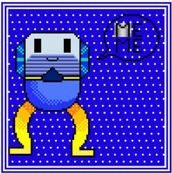 Robot saying MEME by Pirasenshi