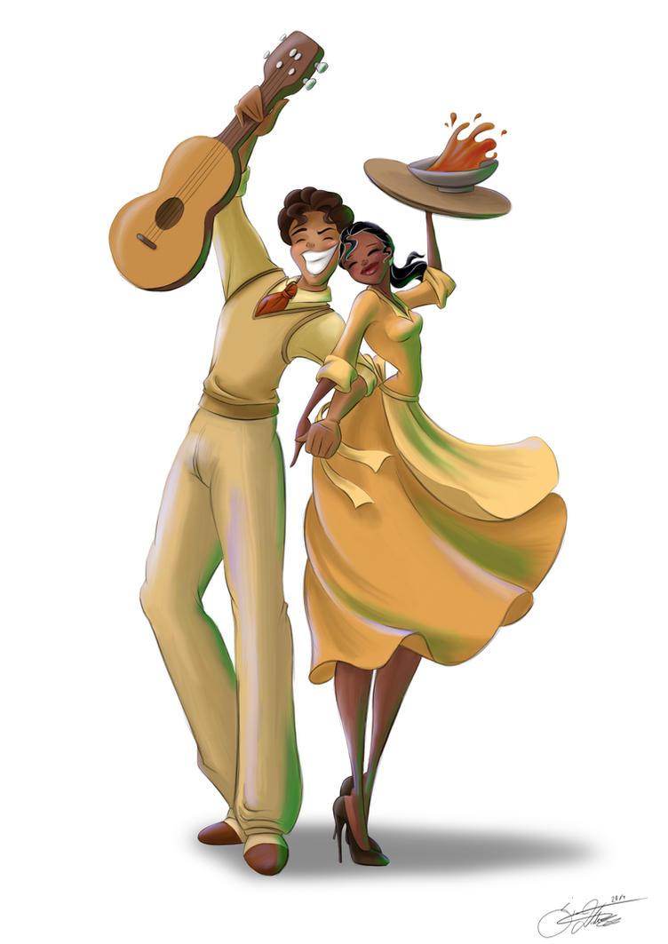 Tiana and Naveen by SilverCatseyes on DeviantArt