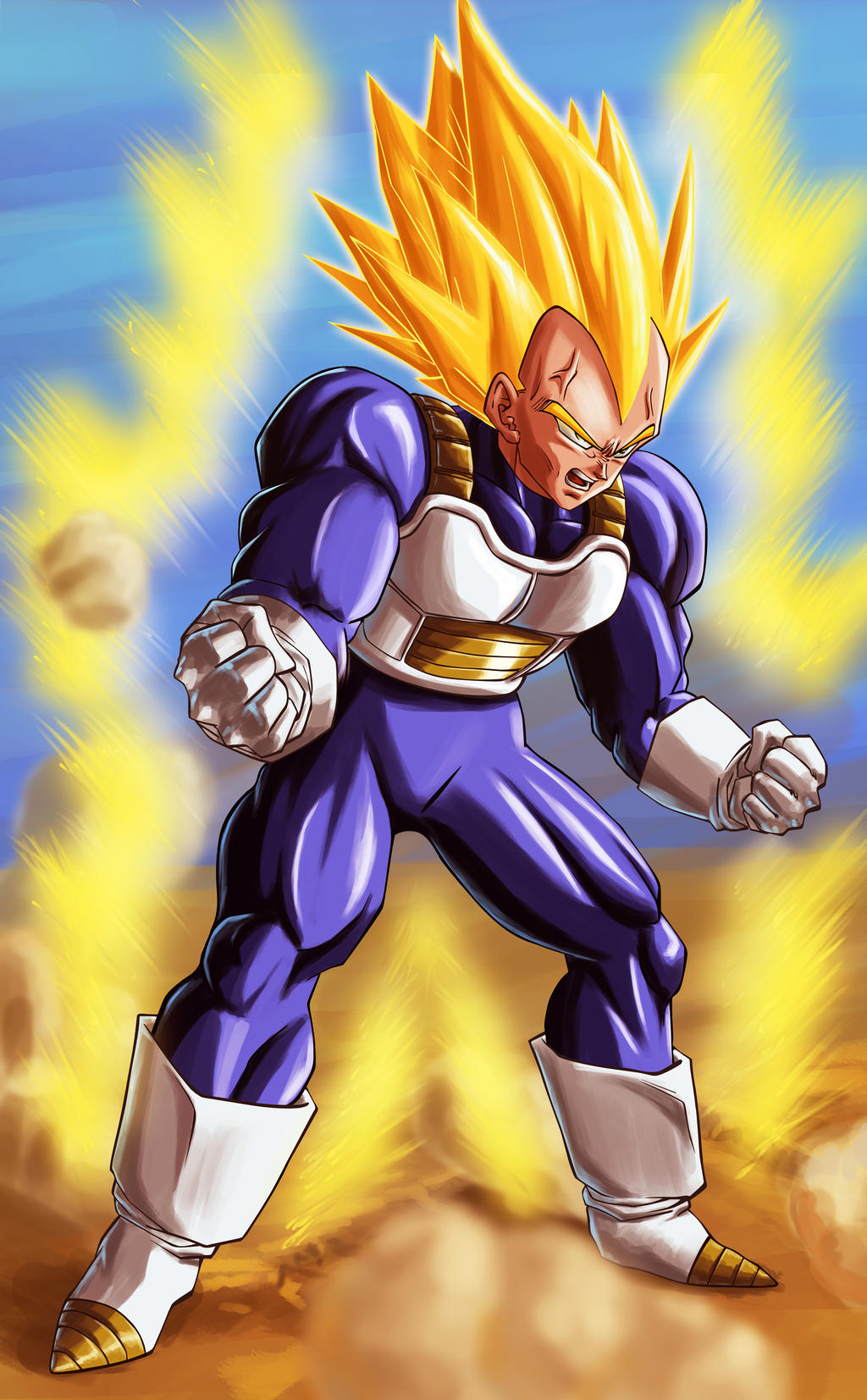 Super vegeta by vinc3412 on deviantart - Goku vs vegeta super saiyan 5 ...