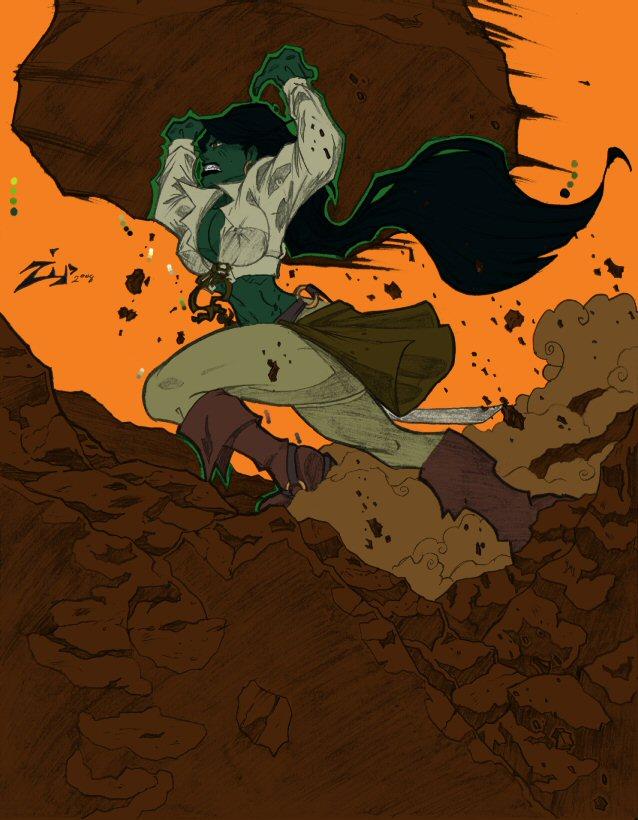 She-Hulk Mel - WIP by RBL-M1A2Tanker