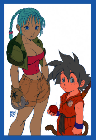 Bulma and Goku - Preview by RBL-M1A2Tanker