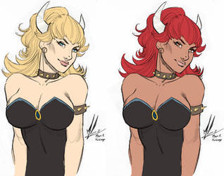 Bowsette by marc f huizinga-Colored by RBL-M1A2Tanker