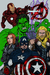 Dye-cember-2018 Challenge Alt4 - Avengers Assemble by RBL-M1A2Tanker