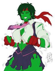 Dye-cember Challenge 2020 10 - She-Hulk Sakura