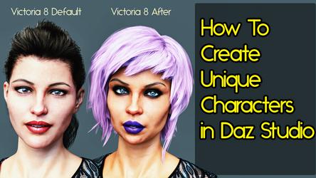 How To Create Unique Characters In Daz Studio