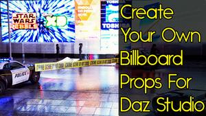 Create Your Own Billboard Props For Daz Studio