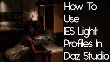 How To Use IES Light Profiles In Daz Studio
