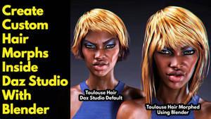 Create Custom Hair Morphs with Blender