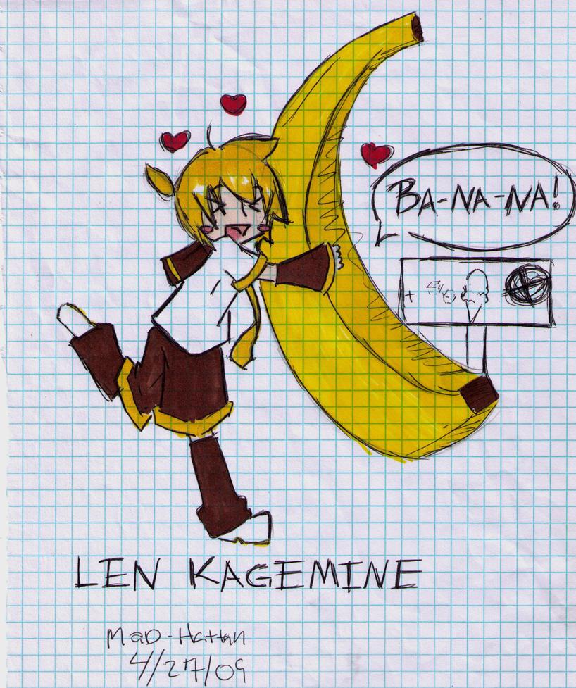 Len Kagamine Banana Len Kagamine by Mad Hattan