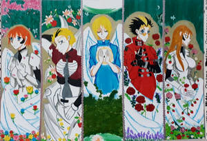 Saints with wings
