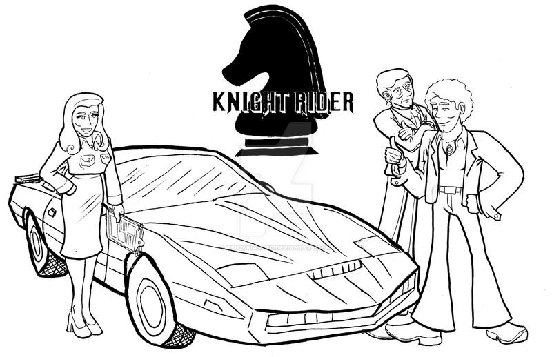 Knight Rider Cast Lineup By Tsuzukiasato On Deviantart Ridder Actor Coloring