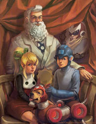 Mega Man Family Portrait by Photia