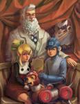 Mega Man Family Portrait