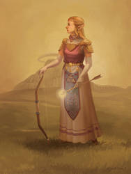 Princess Zelda Portrait by Photia