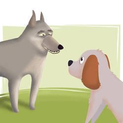 Cico incontra il vecchio cane lupo by Joliet82