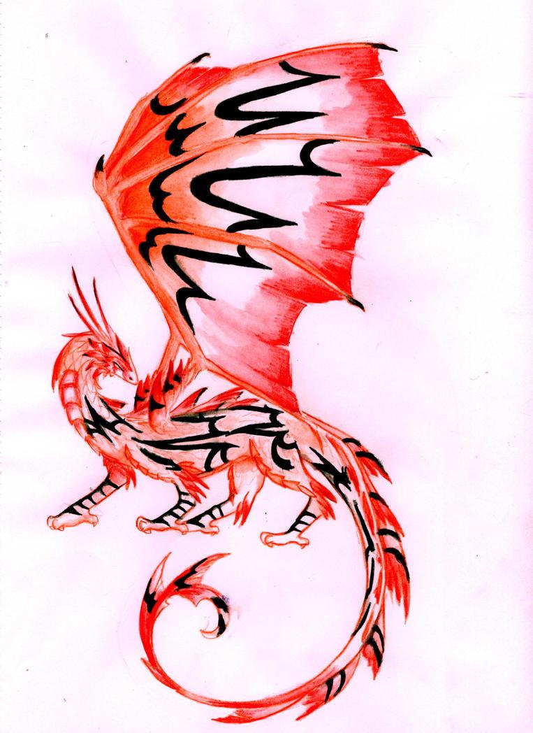 Blackstripe Firewing Dragon by BlazeTheConqueror