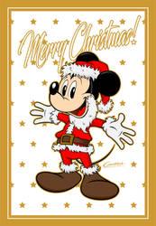 Santa Mickey Mouse by AlbertoCamarra