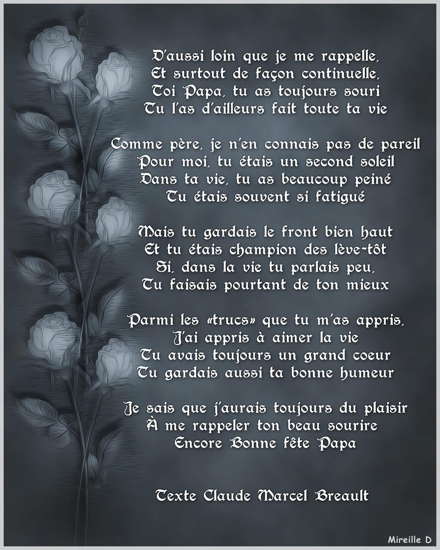 Poeme De Fete Des Peres By Mireilled On Deviantart