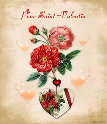 Coeur Fleuri de Saint-Valentin by MireilleD