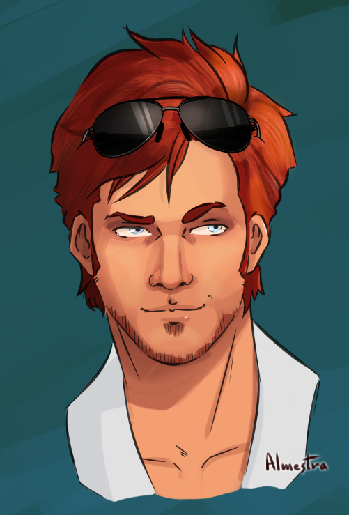 Flame-Haired Redrawn by Almestra
