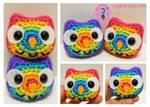 Bright Rainbow Owls