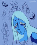Blue Diamond Doodles