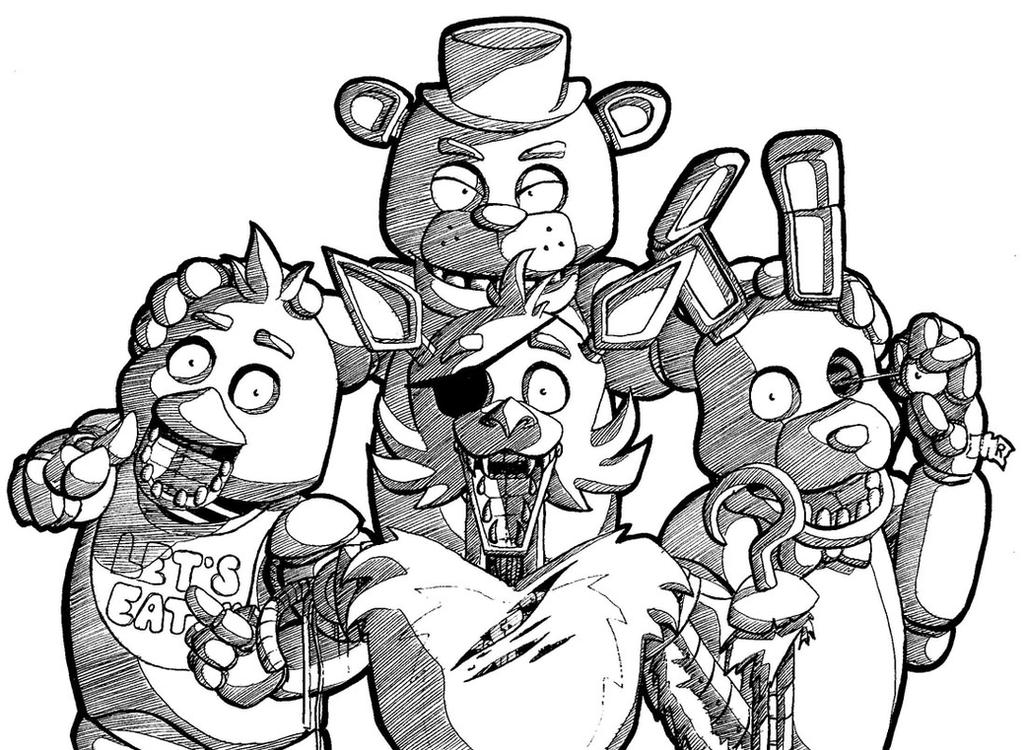 The Puppet Fnaf Black And White