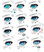 Blue Eye tutorial by JennaCaminschi