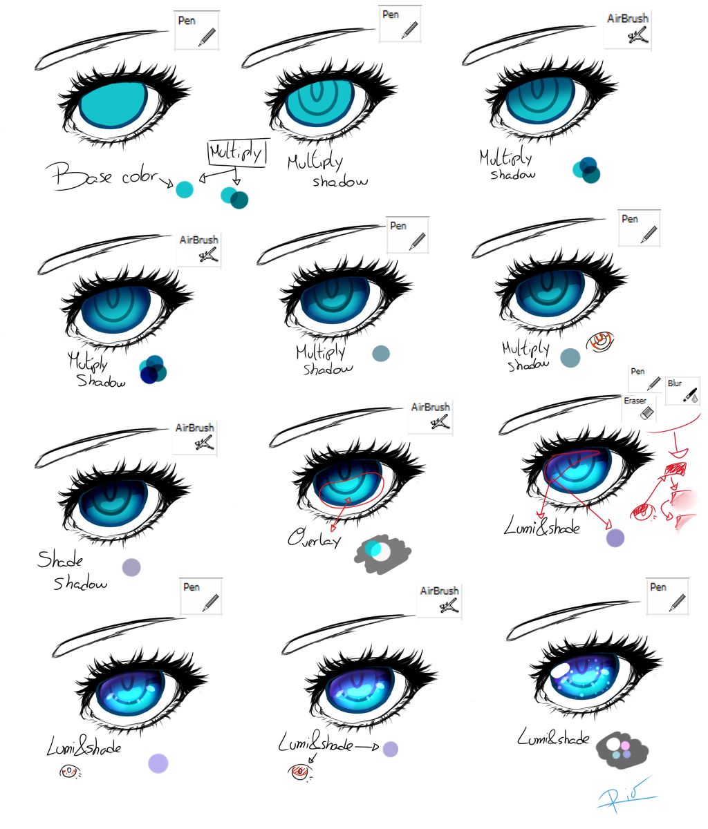 Easy eye colouring tutorial by shinjiiru on deviantart blue eye tutorial by jennacaminschi ccuart Gallery