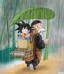 Under Paozu rain