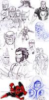 Superhero sketches compilation