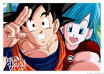 Bulma and Son Goku 30th anniversary selfie