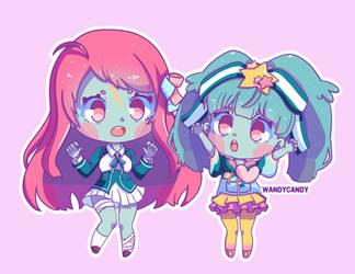 Sakura and Lily - Fanart Zombie Land Saga by WandyCandy