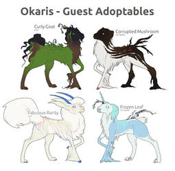 [Okaris] SOLD August/September Adopts! 1$ SB by chertan-koraki