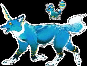 Handsome Unicorn Doggo